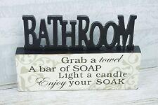 Salle de bain Plaque baignoir attrape une Serviette Une Barre De Savon Découpé Décor 24 cm SG1610