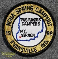 LMH Patch Badge 1988 NCHA FCRV Family Campers Hikers Spring CAMPOUT Two Rivers
