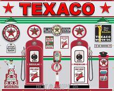TEXACO VINTAGE GAS PUMP STATION SCENE WALL MURAL SIGN BANNER GARAGE ART 8' X 10'