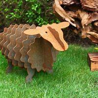 Gartenskulptur Deko Schaf Gartenfigur aus Metall rostig Gartendekoration