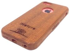 iNature®️IPhone 5C Real Wood Case Hand Crafted Natural Mahogany Wood Cover