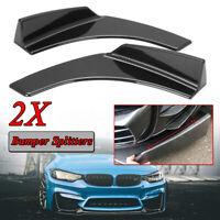 Nero di carbonio deflettore anteriore paraurti Splitter diffusore Canard per BMW