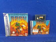 Gameboy Advance DOOM *x Authentic BOXED GBA Region Free PAL