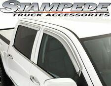 Stampede Chrome Sidewind Deflector 15-18 for GMC Sierra Silverado double cab
