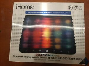 iHome iBT751 Color Changing Bluetooth Stereo Speaker - Black