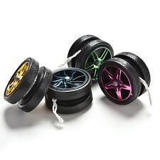 Wheel Shape Electroplating YoYo Ball Bearing String Trick Child Kid Toy Gift New