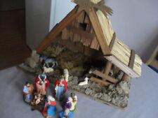 Schöne Weihnachtskrippe Maria Josef heilige 3 Könige Jesuskind usw.