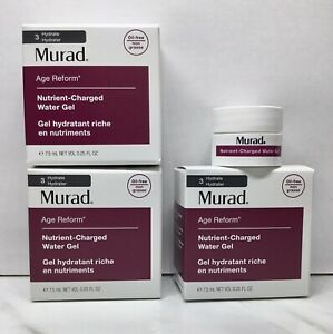 3 PC NIB Murad AGE REFORM NUTRIENT CHARGED WATER GEL Travel Sample Size 0.25 OZ