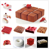3D Cake Silicone Mould DIY Bakeware Pan Mold Baking Cupcake Mousse Decor Mould
