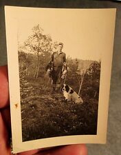 ca 1930 DUCK HUNTING PHOTO HUNTER, DOG & DEAD DUCKS