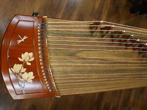 "49"" Travel 21-String Laminated Rosewood Guzheng, Chinese Zither Harp"