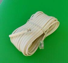 (2 Pcs) 25' Rj11 modular 6P4C 4 wire Phone Line Extension Cord - Ivory