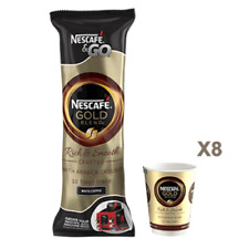40 NESTLE NESCAFE & AND 2 GO GOLD BLEND WHITE COFFEE FOIL SEALED  IN CUP DRINKS