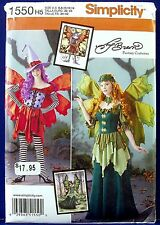 Simplicity Halloween Fantasy Costume Sewing Pattern Wing Fairy 6,8,10,12,14 1550