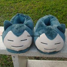 "Pokemon Go Snorlax Kabigon Plush Stuffed Slippers Shoes Cuddly Fluffy Doll 11"""