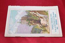 Rivista Brochure SOMMER-FAHRPLAN 1914 BERN SIMPLON ESCURSIONI PUBBLICITA'