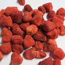 (100g = 9,- €) 50g-fresas liofilizado naturaleza-sin aditivos, trozos de enteros