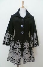 BELLINA Tailored Embroidery Featured Over Jacket - Sz 14