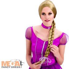 Long Blonde Rapunzel Wig Ladies Fancy Dress Princess Braid Adults Costume Acc