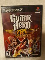 Guitar Hero: Aerosmith (Sony PlayStation 2, 2008) Brand New