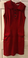 Nanette lepore Red Riding Hood Dress Sleeveless Sheath Pockets Sz 8