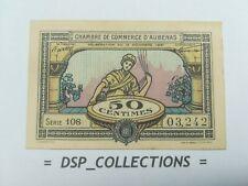 Banknote, Billet - 50 CENTIMES 1921 UNC,CHAMBRE DE COMMERCE D'AUBENAS / 45-B01
