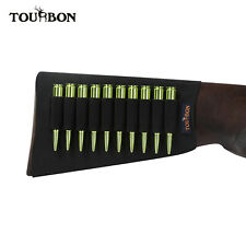 Tourbon Rifle Buttstock Shell Holder Ammo Pouch Butt Stock Gun 10 Loops Hunting