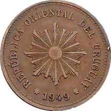 Republica Oriental Del Uruguay 5 Centésimos 1949 KM#21a Chile Mint (4580)
