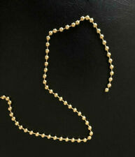 5 MTR x NO. 10 GOLD CHAIN FOR ROLLER ROMAN BLIND - WITH FREE CONNECTORS - BRASS