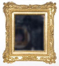 1:12 scale Dolls House  MIRROR IN GOLD FRAME