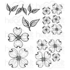 Heartfelt Creations Flowering Dogwood Cling Stamp Set HCPC-3773