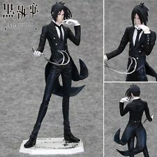 "Kuroshitsuji Black Butler Sebastian Michaelis 22cm/8.8"" PVC Figure No Box #2"