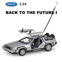 DELOREAN TIME MACHINE Back To The Future Part 1 Scale 1:24 Diecast Car Model
