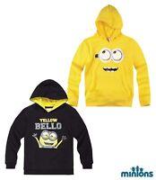 Neu Hoodie Kinder Pullover Sweatshirt Jungen Minions gelb schwarz 116 - 152 #32
