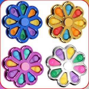 Push Pop Bubble Simple Dimple Fidget Spinner Toy Sensory Autism Stress Relief