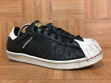 Worn🔥 Adidas ObyO Superstar V8 Alyasha Black White Leather Sz 10 Vintage Shoes