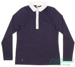 New Womens Daily Sports Ofelia Long Sleeve Polo Small S Purple MSRP $107 963/156