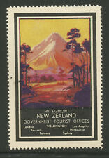 New Zealand Government Tourist Office advertising stamp/label (Mount Egmont)