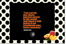 DITA VON TEESE INSPIRATIONAL QUOTE ART POSTER PRINT PRE SIGNED - 12 X 8 INCH