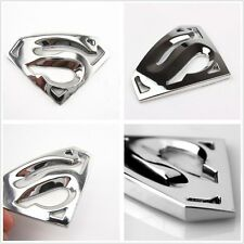 3D CHROME SUPERMAN CAR EMBLEM BADGE decal sticker hood bumper auto adhesive