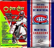 2x UD McDONALD 2011 OPC O-PEE-CHEE 2002 NHL HOCKEY PACKS random GOLD / AUTOGRAPH