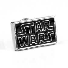Star Wars, Classic Font, Logo, Stainless Steel, Silver, Enamel Pin Badge, Brooch