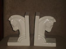 VERY RARE VINTAGE LENOX ART DECO HORSE HEAD BOOKENDS OLD LENOX INCISED MARK