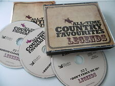 READERS DIGEST ALL TIME COUNTRY FAVOURITES 1950s 3 CD BOX CASH CLINE ELVIS
