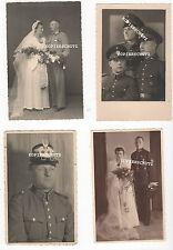 4 original Portrait foto polizia con tschako/matrimonio/visiera 2. WK