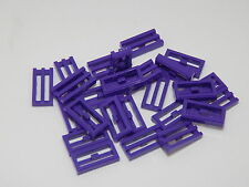 Lego Lot Of 25 Dark Purple Tile, Modified 1 x 2 Grille with Bottom Groove / Lip