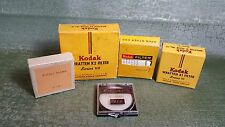 Set of 4 various filters and one filter holder. Kodak, Tiffen. Good condition