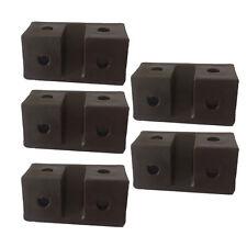 fawo meubles fixation support marron plastique 4 trou Pack de 5