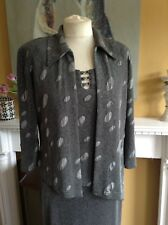 JOSEPH RIBKOFF DRESS  + JACKET ASYMMETRIC MOTHER OF THE BRIDE OUTFIT 12