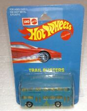 HOT WHEELS MATTEL LEO INDIA DOUBLE DECKER BUS BLUE TRAIL BUSTERS NEW